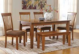 Berringer Rectangular Dining Room Table 4 Chairs BenchAshley
