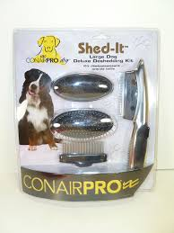 new conairpro large dog comb brush rake shed it de shedding blade