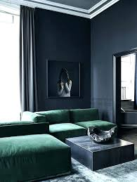 Green Couch Living Room Dark Luxurious With Walls And A