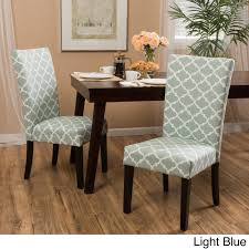 Shop Aurora Fabric Trellis Pattern Dining Chair (Set Of 2) - On Sale ...