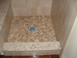 river rock shower floor lowes image bathroom 2017