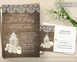 Rustic Lantern Wedding Invitations Set For Your Comes With And Rsvp