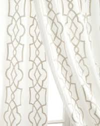 Tahari Home Curtains 108 by Ikat Gold U0026 Ivory Toned Satin Heavy Faux Silk Curtain 52