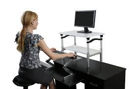 lift standing desk conversion kit tall affordable ergonomic