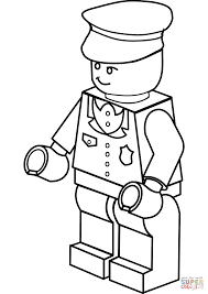 Click The Lego Policeman Coloring Pages