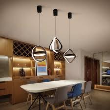 moderne led pendelleuchte für wohnzimmer esszimmer schlafzimmer nachttisch hintergrund wohnkultur kreis quadrat hängeleuchte