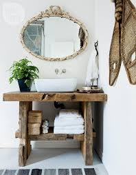 Cottage Style Bathroom Decor Rustic Vanity With Live