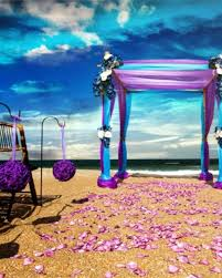Blue And Purple Party Decoration Ideas Beach Wedding Red Theme Florida Themes Romantic