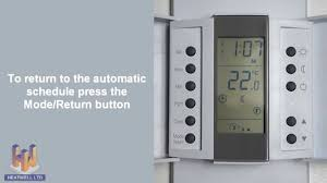 Easy Heat Warm Tiles Thermostat Instructions by Heatwell Thermostat Aube Th232 Youtube