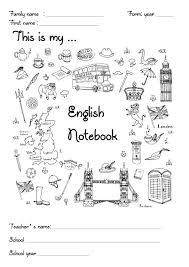 Cahier Anglais Page De Garde