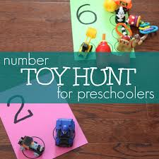 Today We Are Sharing A Simple Number Toy Hunt Activity That You Can Do At Home Using Few Materials And Your Childs Favorite Toys