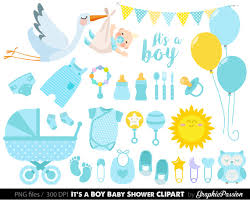 Baby Boy Clipart Boy Baby Shower clipart BLue Baby Clipart