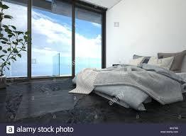 helle schlafzimmer mit tiefbett schwarzer boden fußboden