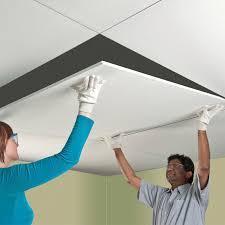 faux plafond en aluminium en dalles acoustique claro t