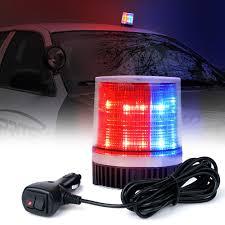 100 Strobe Light For Trucks Red Blue 15W LED Beacon With Magnetic Base