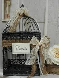 Shabby Black Birdcage Wedding Decor With Ribbons
