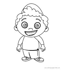 Little Einsteins Color Page Cartoon Characters Coloring Pages Plate Sheet