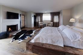 Modern Bedroom In Rustic Style With Fireplace Ideas And Inspirations To Your New Home Homeideaco