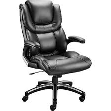 staples mckee luxura faux leather managers chair black staples
