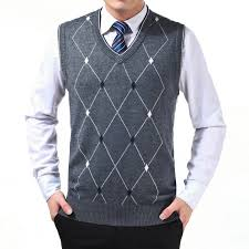 wholesale mens sweaters pullovers knitted vest autumn winter