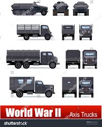 100 German Trucks APC Vector WW 2 Series Stock Vector Royalty Free