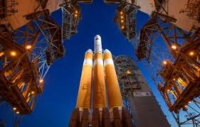 The Mobile Service Tower Is Rolled Back To Reveal United Launch Alliance Delta IV Heavy Rocket With Parker Solar Probe Onboard Saturday Aug