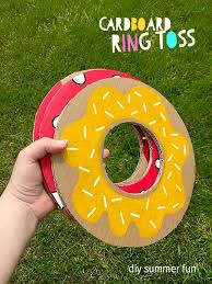 Fun And Simple DIY Backyard Party Game Cardboard Ring Toss Plus Really Great Ideas For