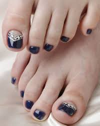 New Style Feet Nail Art Designs Collection For Female 2015