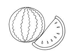 Watermelon Coloring Pages Kids