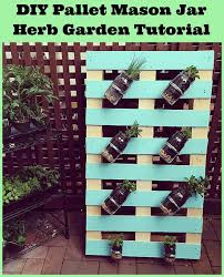 DIY Pallet Mason Jar Herb Garden Tutorial This Post Has Step By