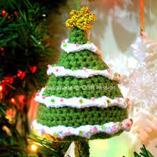 Crazy Cute Crochet Christmas Tree Ornament