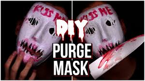 Halloween Purge Mask Uk by Halloween Purge Kiss Me Mask Halloween Mask 2016 Youtube