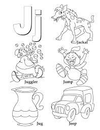 Preschool Letter J Coloring Pages