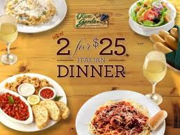 Olive Garden 2 for $25 Special Deal is Back – View the Menu