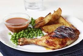 comment cuisiner une cuisse de poulet cuisse de poulet au four bbq avec patates rôties recette fondation olo