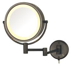 jerdon hl75bz 8 5 inch lighted wall mount makeup