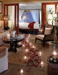 chambre romantique avec déco romantique dans la chambre à coucher pour st valentin