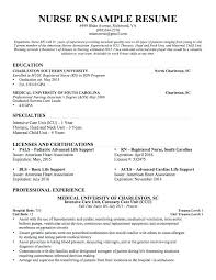 Resume Example For Nurses Travel Nurse Sample Nursing 8 Experienced