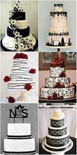 Simply Elegant Black And White Wedding Cakes