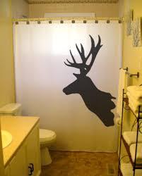Deer Shower Curtain trophy hunter bathroom decor Buck