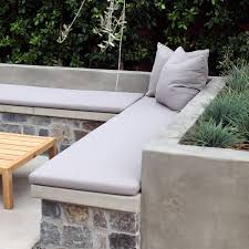 Built In Bench Seating With Cushion Loon Lake Stone Veneer