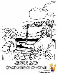 Bible Coloring Of Jesus