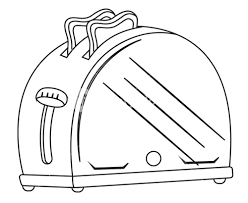 Toaster Drawing Vector Royalty Free Stock Image