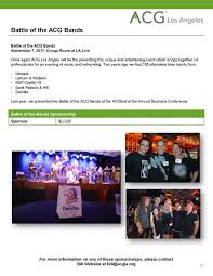 Conga Room La Live Hours by Sponsorship Opportunities Acg Los Angeles