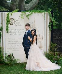 Fairytale Wedding Ideas Garden Ceremony With Large Once Upon A Time Book As The Backdrop