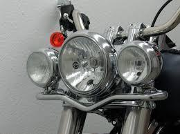 Harley Davidson Light Bar by Fehling Chrome Front Passing Lamp Bar Flstf Fat Boy U0026 Fls Vtwinmania