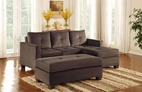 Wayfair Modern Sectional Sofa by Phelps Sectional Sofa In Coffee Microfiber By Homelegance