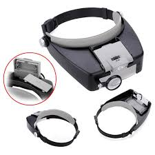 10x lighted magnifying glass headset led headbrand loupe us 8 33
