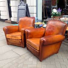 Chairs : Vintage French Leather Club Chairs Set Of For Sale At ... Vintage Leather And Linen Armchair At Rose Grey Stools Favored Retro Chairs For Sale Uk Great Sofa Sofa Endearing Fniture Vancouver Desk Post Office French Vinyl Chrome Barbers Chair Antiques Atlas 2 Seater Fabric Sofas Corner Slf24 Ltd Elegant Bed Aberdeen Curious Style Fniture