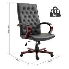 High Back Executive Office Chair Executive Computer Seat 360° Swivel ...